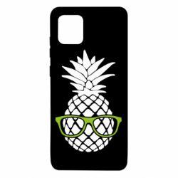 Чехол для Samsung Note 10 Lite Pineapple with glasses