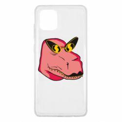 Чохол для Samsung Note 10 Lite Pink dinosaur with glasses head