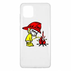 Чохол для Samsung Note 10 Lite Пісяючий хуліган-пожежний