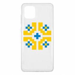 Чехол для Samsung Note 10 Lite Pixel pattern blue and yellow