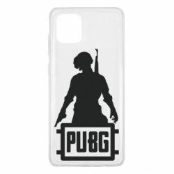 Чехол для Samsung Note 10 Lite PUBG logo and hero