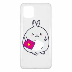 Чохол для Samsung Note 10 Lite Rabbit with a letter