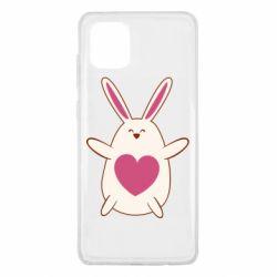 Чехол для Samsung Note 10 Lite Rabbit with a pink heart