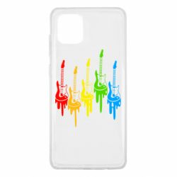 Чехол для Samsung Note 10 Lite Разноцветные гитары