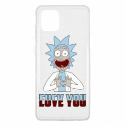 Чохол для Samsung Note 10 Lite Rick and Morty fack and love you