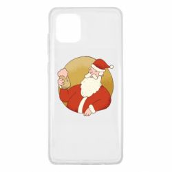 Чехол для Samsung Note 10 Lite Santa with a beer glass
