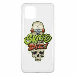 Чохол для Samsung Note 10 Lite Skate or die skull
