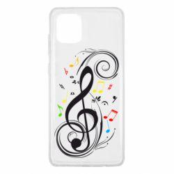 Чехол для Samsung Note 10 Lite Скрипичный ключ