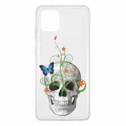 Чехол для Samsung Note 10 Lite Skull and green flower