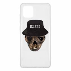Чехол для Samsung Note 10 Lite Skull in hat and text