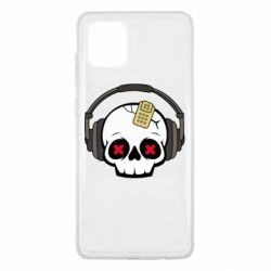Чохол для Samsung Note 10 Lite Skull in headphones 1
