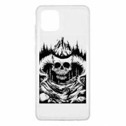 Чехол для Samsung Note 10 Lite Skull with horns in the forest