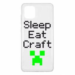 Чохол для Samsung Note 10 Lite Sleep,eat, craft