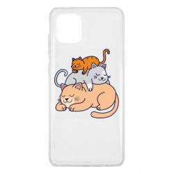 Чехол для Samsung Note 10 Lite Sleeping cats