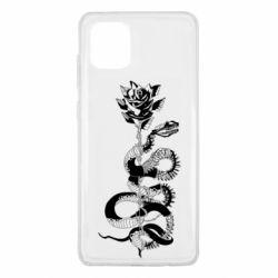 Чохол для Samsung Note 10 Lite Snake and rose