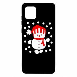 Чехол для Samsung Note 10 Lite Снеговик в шапке