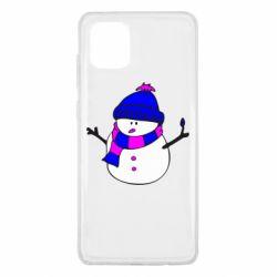 Чехол для Samsung Note 10 Lite Снеговик