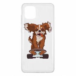Чехол для Samsung Note 10 Lite Собака Кавалер на Скейте