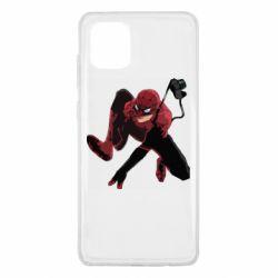 Чехол для Samsung Note 10 Lite Spiderman flat vector