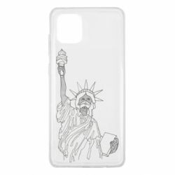 Чехол для Samsung Note 10 Lite Statue of Liberty with a medical mask