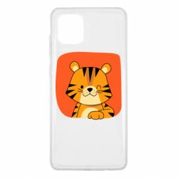 Чехол для Samsung Note 10 Lite Striped tiger with smile