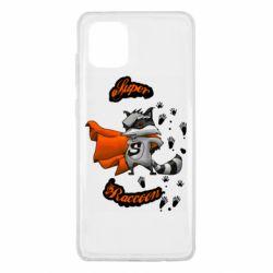 Чехол для Samsung Note 10 Lite Super raccoon