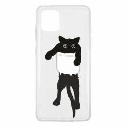 Чехол для Samsung Note 10 Lite The cat tore the pocket