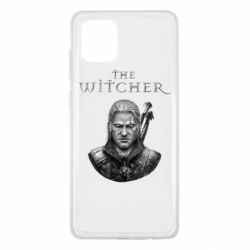 Чехол для Samsung Note 10 Lite The witcher art black and gray