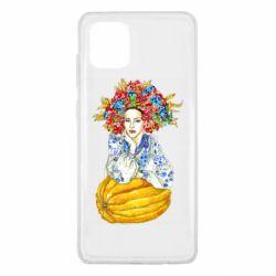 Чохол для Samsung Note 10 Lite Українка в вінку і вишиванці