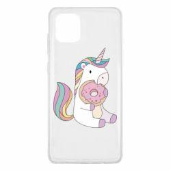 Чехол для Samsung Note 10 Lite Unicorn and cake