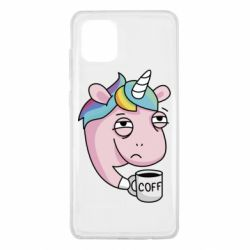 Чохол для Samsung Note 10 Lite Unicorn and coffee