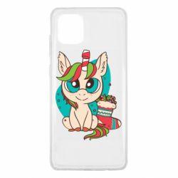 Чехол для Samsung Note 10 Lite Unicorn Christmas