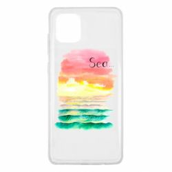Чехол для Samsung Note 10 Lite Watercolor pattern with sea