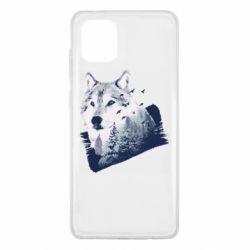 Чехол для Samsung Note 10 Lite Wolf and forest
