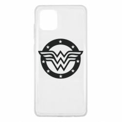 Чехол для Samsung Note 10 Lite Wonder woman logo and stars