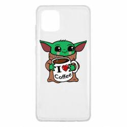 Чехол для Samsung Note 10 Lite Yoda and a mug with the inscription I love coffee