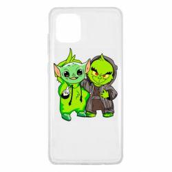 Чехол для Samsung Note 10 Lite Yoda and Grinch