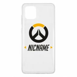 Чехол для Samsung Note 10 Lite Your Nickname Overwatch