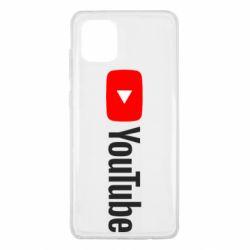 Чехол для Samsung Note 10 Lite Youtube logotype