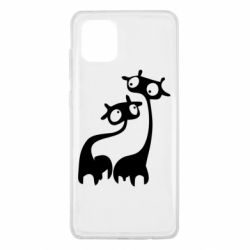 Чехол для Samsung Note 10 Lite Жирафы