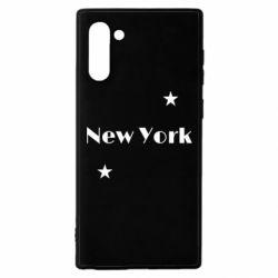 Чехол для Samsung Note 10 New York and stars
