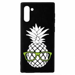 Чехол для Samsung Note 10 Pineapple with glasses
