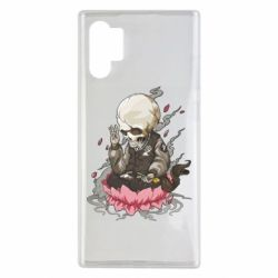 Чехол для Samsung Note 10 Plus A skeleton sitting on a lotus
