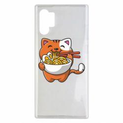 Чохол для Samsung Note 10 Plus Cat and Ramen