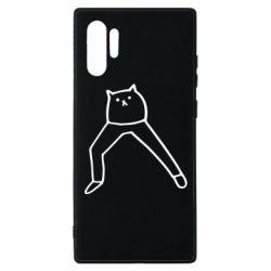 Чохол для Samsung Note 10 Plus Cat in pants