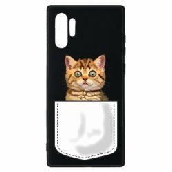 Чехол для Samsung Note 10 Plus Cat in your pocket