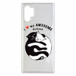 Чехол для Samsung Note 10 Plus Cats and love