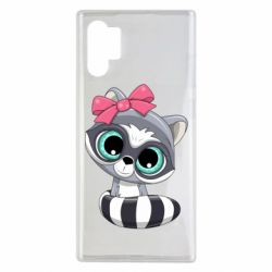 Чехол для Samsung Note 10 Plus Cute raccoon