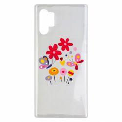 Чехол для Samsung Note 10 Plus Flowers and Butterflies