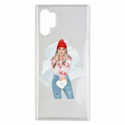 Чехол для Samsung Note 10 Plus Girl in a red sweater